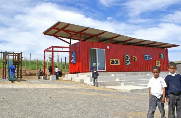 Vissershok- kontejnerová škola