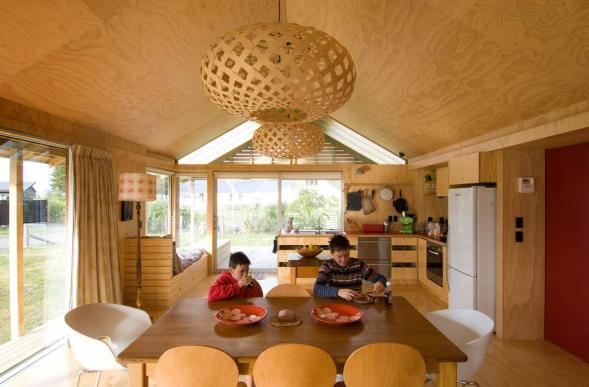 Dům na pláži na Novém Zélandu
