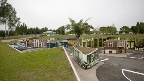 Open-air část estonského muzea cest