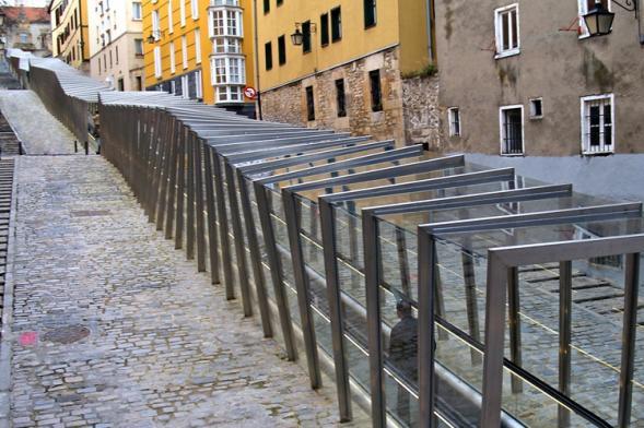 Escalators in Historic Centre of Vitoria-Gasteiz