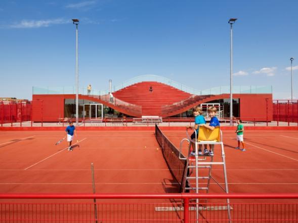 Tenisová klubovna TC IJburg v Amsterdamu