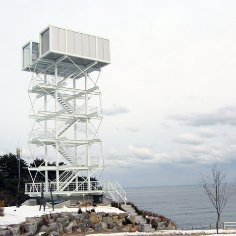 Watchtower from Shipping Containers