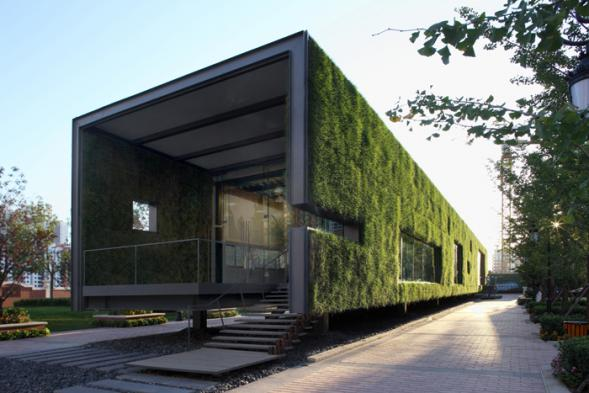 Zelený showroom v Pekingu