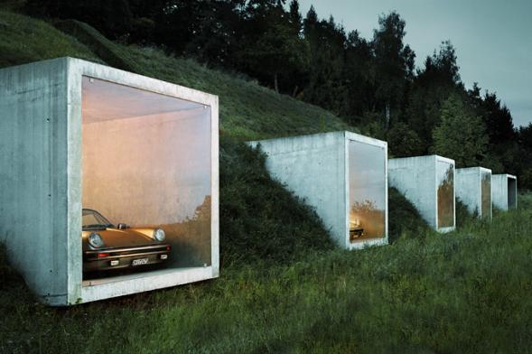 Parkovací boxy s výhledem