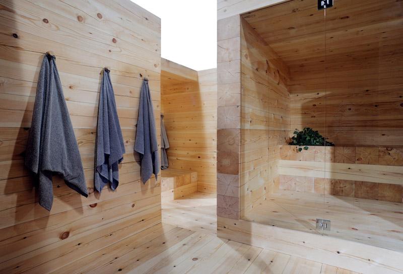 Moderne bader mit sauna